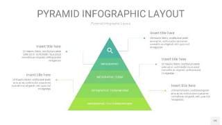 浅绿色3D金字塔PPT信息图表19