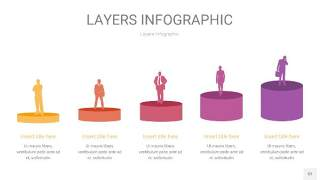 粉黄色3D分层PPT信息图52