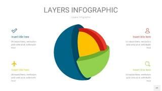 四色3D分层PPT信息图43
