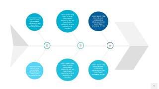 宝石蓝鱼骨PPT信息图表9