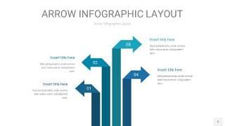 天蓝绿箭头PPT信息图表3