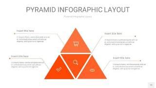 橘红色3D金字塔PPT信息图表13
