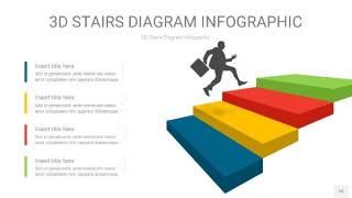 多彩3D阶梯PPT图表15
