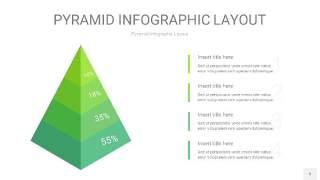 浅绿色3D金字塔PPT信息图表5