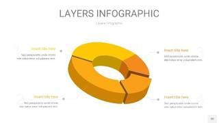 黄色3D分层PPT信息图30