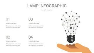 灰色创意灯PPT信息图6