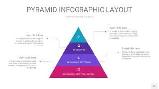 渐变紫色3D金字塔PPT信息图表18