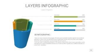多彩3D分层PPT信息图53