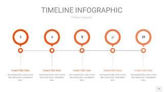 橘红色时间轴PPT信息图15