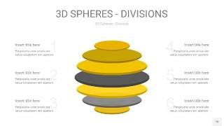 灰黄色3D球体切割PPT信息图10