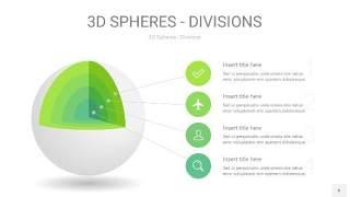 浅绿色3D球体切割PPT信息图6