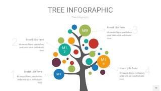 多彩树状图PPT图表10