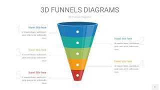 彩色3D漏斗PPT信息图表5