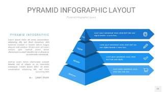 浅蓝色3D金字塔PPT信息图表22