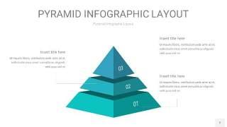 天蓝绿3D金字塔PPT信息图表2