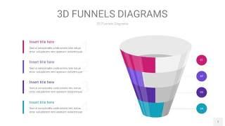 紫色3D漏斗PPT信息图表7