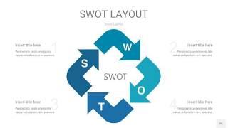 铁蓝色SWOT图表PPT25