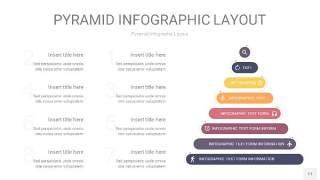 中紫色3D金字塔PPT信息图表11