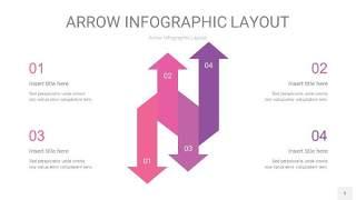 粉紫色箭头PPT信息图表5