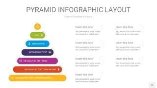 彩色3D金字塔PPT信息图表10