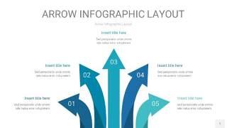 天蓝绿箭头PPT信息图表1