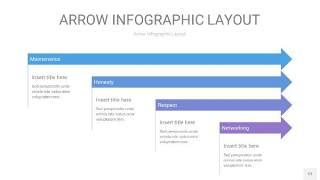 渐变紫色箭头PPT信息图表12