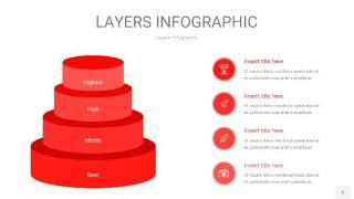红色3D分层PPT信息图5
