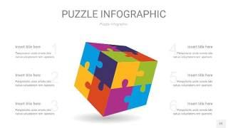 多彩拼图PPT图表23