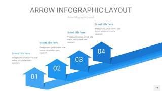 蓝色箭头PPT信息图表14