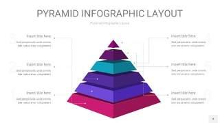 渐变紫色3D金字塔PPT信息图表4
