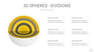 灰黄色3D球体切割PPT信息图1