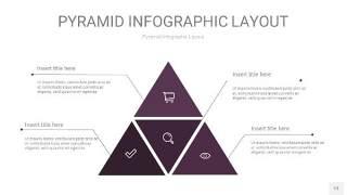 深紫色3D金字塔PPT信息图表13