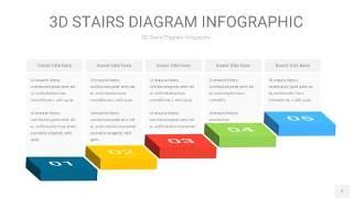 多彩3D阶梯PPT图表7