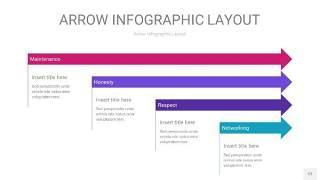 紫色系箭头PPT信息图表12