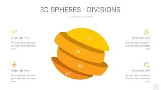 黄色3D球体切割PPT信息图9
