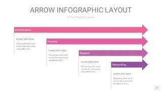 粉紫色箭头PPT信息图表12