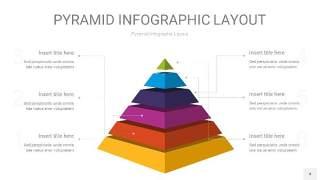 彩色3D金字塔PPT信息图表4