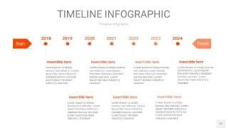 橘红色时间轴PPT信息图17