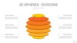 黄色3D球体切割PPT信息图10