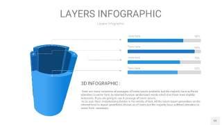 蓝色3D分层PPT信息图53