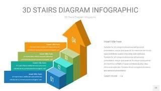 3D阶梯PPT图表23