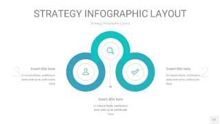 蓝绿色战略计划统筹PPT信息图17