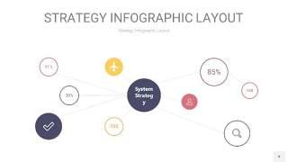紫黄色战略计划统筹PPT信息图4
