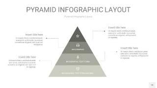 灰色3D金字塔PPT信息图表18