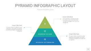 黄蓝绿色3D金字塔PPT信息图表17