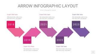 粉紫色箭头PPT信息图表7