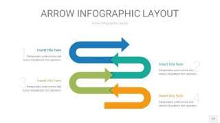 黄蓝绿箭头PPT信息图表13