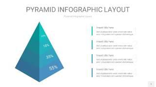 天蓝绿3D金字塔PPT信息图表5