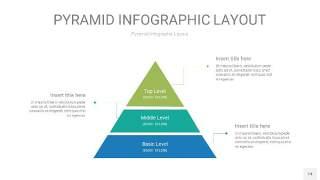黄蓝绿色3D金字塔PPT信息图表14