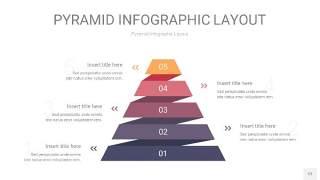 中紫色3D金字塔PPT信息图表12
